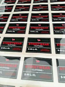 """Custom heat transfer branding neck label logo for tshirt 50pcs 2x2"""" UK"""