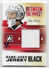 10/11 BETWEEN THE PIPES 'FINAL VAULT' BLACK GAME JERSEY #M43 Mike Murphy 1/1