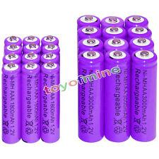 12 AA 3000mAh + 12 AAA 1800mAh battery Bulk Nickel Hydride Rechargeable 1.2V Pur