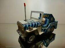 ICHIKO TIN TOY WILLY's JEEP - KLM AIRPORT SERVICES - L19.0cm RARE - GOOD