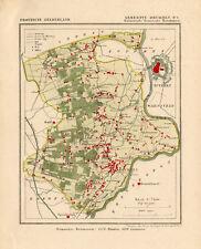 ANTIQUE MAP-NETHERLANDS--BRUMMEN 1-GELDERLAND-KUYPER-1865