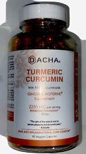 Dacha Nutrition Turmeric Curcumin Ginger & Bioperine Supplement - 90 Veggie Caps