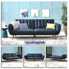 Futon Convertible Couch Sofa Bed Vintage Sleeper Living Room Furniture Lounger