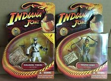"""Lot of 2 Indiana Jones Last Crusade Colonel Vogel Young Indy 3.75"""" Action Figure"""