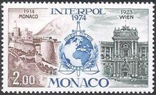 Monaco 1974 Interpol/Police/Law/Order/Buildings/Architecture 1v (n43661)
