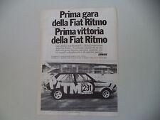 advertising Pubblicità 1978 FIAT RITMO ABARTH