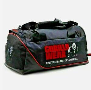 🦍Genuine Gorilla Wear Jerome Gym Bag. Black+Red Sports Bag Brand new+tags Golds