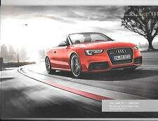 AUDI RS 5 CABRIOLET ILLUSTRATED PRICES/SPECIFICATION SALES BROCHURE MAY 2013