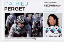 CYCLISME carte cycliste MATHIEU PERGET équipe AG2R prévoyance 2011