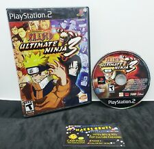 Naruto Ultimate Ninja 3 Sony PlayStation 2 PS2 2008 Disc & Case Video Game