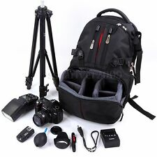 Shockproof SLR DSLR Camera Laptop Bag Lens Case Backpack Rucksack for Canon EOS