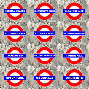SELECT YOUR LONDON UNDERGROUND TUBE TRAIN RAILWAY STATION METAL PLAQUE SIGN MD4