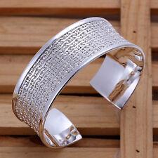 Leisure Style 925Sterling  Silver Musical Note Men Women Bangle Bracelet B049