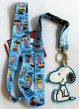Peanuts Snoopy Charlie Brown Lucy ID Badge Keycard Strap Lanyard & Rubber Charm