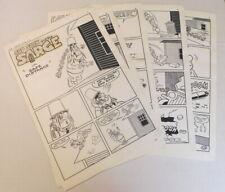 SAD SACK & SARGE IN SAFE DISTANCE - 5 pages ORIG 1963 COMIC BOOK ART