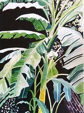 K Jones BANANA TREES Print Botanical Tropical New Orleans Louisiana courtyard