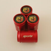 FIAT ABARTH METAL SPORTS Valve Dust caps all Cars 7 COLOURS UK DISPATCH RED 500C