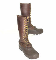 "Schnee's Mens Pac Boots 16"" Guide ADV Made in USA Brown Size US 11"