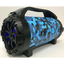 Blackmore Portable Rechargeable Bluetooth Speaker with Remote Control, Blue Camo