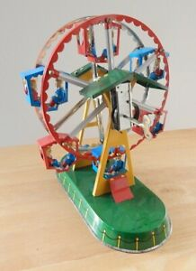 Wind Up FERRIS WHEEL Tin Toy