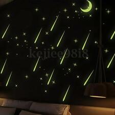 Moon Stars Glow In The Dark Luminous Fluorescent PVC Wall Stickers Home Decor