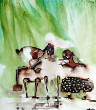 "Tonito Original Painting! Otherworldly Art.Organic Realism.We are Family.18x24"""