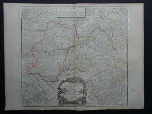 1790 Vaugondy Atlas Universel map  GUIENNE - GUYENNE - France