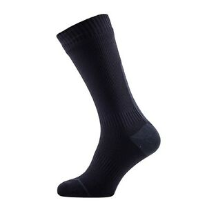 SealSkinz Road Thin Mid Hydrostop - Waterproof Socks - Black / Anthracite
