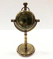 Antique Brass Desk Clock Nautical Vintage Maritime Ship Desk Clock Office Decor