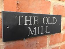 """ENGRAVED QUALITY SLATE HOUSE SIGN ANY NAME / NUMBER 12"""" X 4"""" FAST DELIVERY!!"""