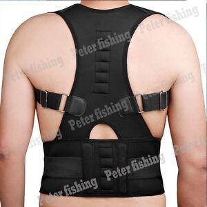 Adjustable Back Posture Corrector Shoulder Support Brace Kyphosis Scoliosis IA