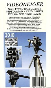 NEW  BOXED  Cullmann 3010 2-Way Fluid-Effect Head with QR plate