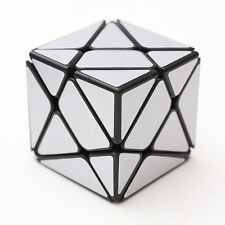 Silver brushed metallic Turbo master Skewb Magic KingKong Axis Cube Twist Puzzle
