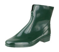 Ladies Green Ankle Wellies Short Slip On Wellington Boots Sizes 3 to 8