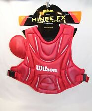 "WILSON FASTPITCH SOFTBALL CHEST PROTECTOR SCARLET RED A3390 S/M 14"" NWT"