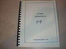 Toyoda Gt52 Cnc Lathe W/ Fanuc 15Ta Parameters List