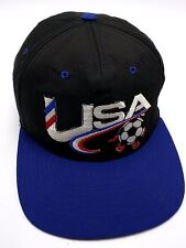 Vintage 1994 FIFA WORLD CUP USA SOCCER black adjustable snapback cap / hat