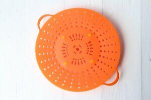 NEW Orange Silicone Vegetable Steamer Basket Dish Veggie steamMicrowave Pan