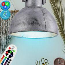 RGB LED Cubrir Péndulo Lámpara Gris Salón Retro Regulador Luz Control Remoto