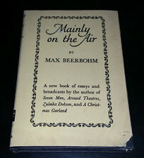 Mainly on the Air by Max Beerbohm (1947, Hardcover) 1st American Edition