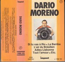 K 7 AUDIO  (TAPE)  DARIO MORENO  *SI TU VAS A RIO*