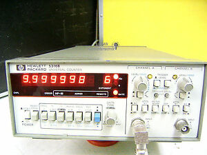 Frequenzzähler HP 5316B, Tischgerät, 2-Ch, kalibriert , HPIB