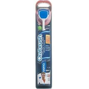 Orabrush Tongue Cleaner Fresh Breath Brush With Scraper (Colours May Vary)