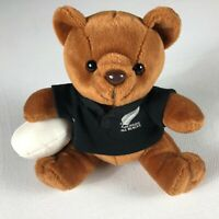 "New Zealand All Blacks Plush Bear Rugby Small 7"" Stuffed Beans Teddy Football"