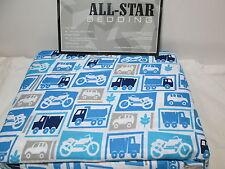 P & A Marketing All-Star Bedding CARS TRUCKS MOTORCYCLES  Twin Sheet Set - Blue