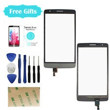 Front Outer Touch Screen Digitizer Glass Lens Replace Parts Gray For LG G3S/D722