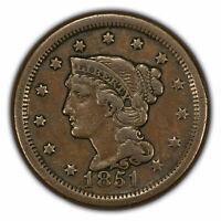 1851 1c Braided Hair Large Cent SKU-Y2816