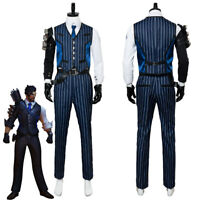 Over OW Hanzo Cosplay Costume black with gloves