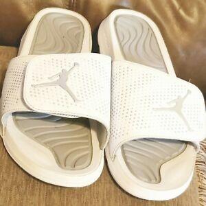 Nike Jordan 5 V Retro Hydro Slides White/Metallic Silver Grey 820257-120 Mens 11