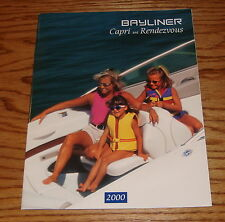 Original 2000 Bayliner Capri & Rendezvous Sales Brochure 00